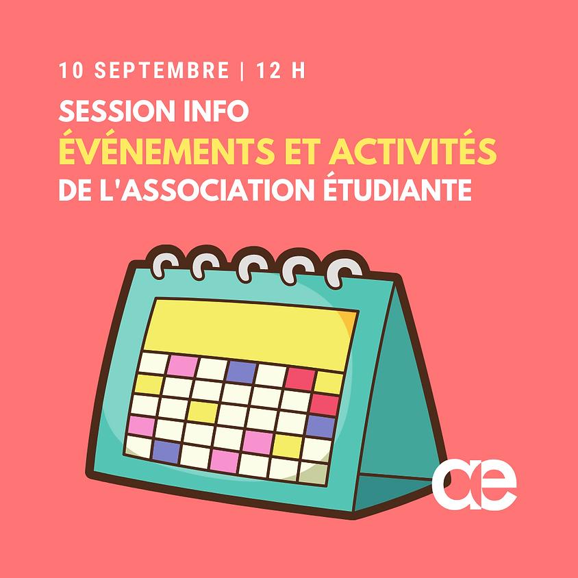 Session info - Événements et activités