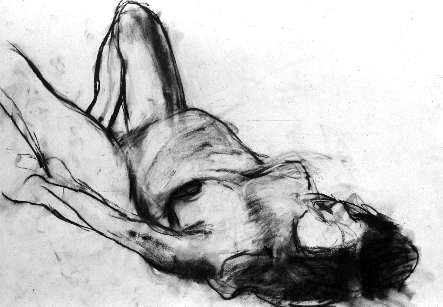 pregnant woman laying down