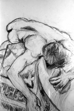 reclining male figure