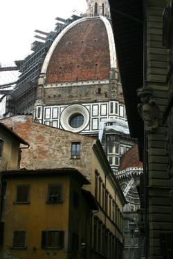 Duomo Scafold, Florence, Italy
