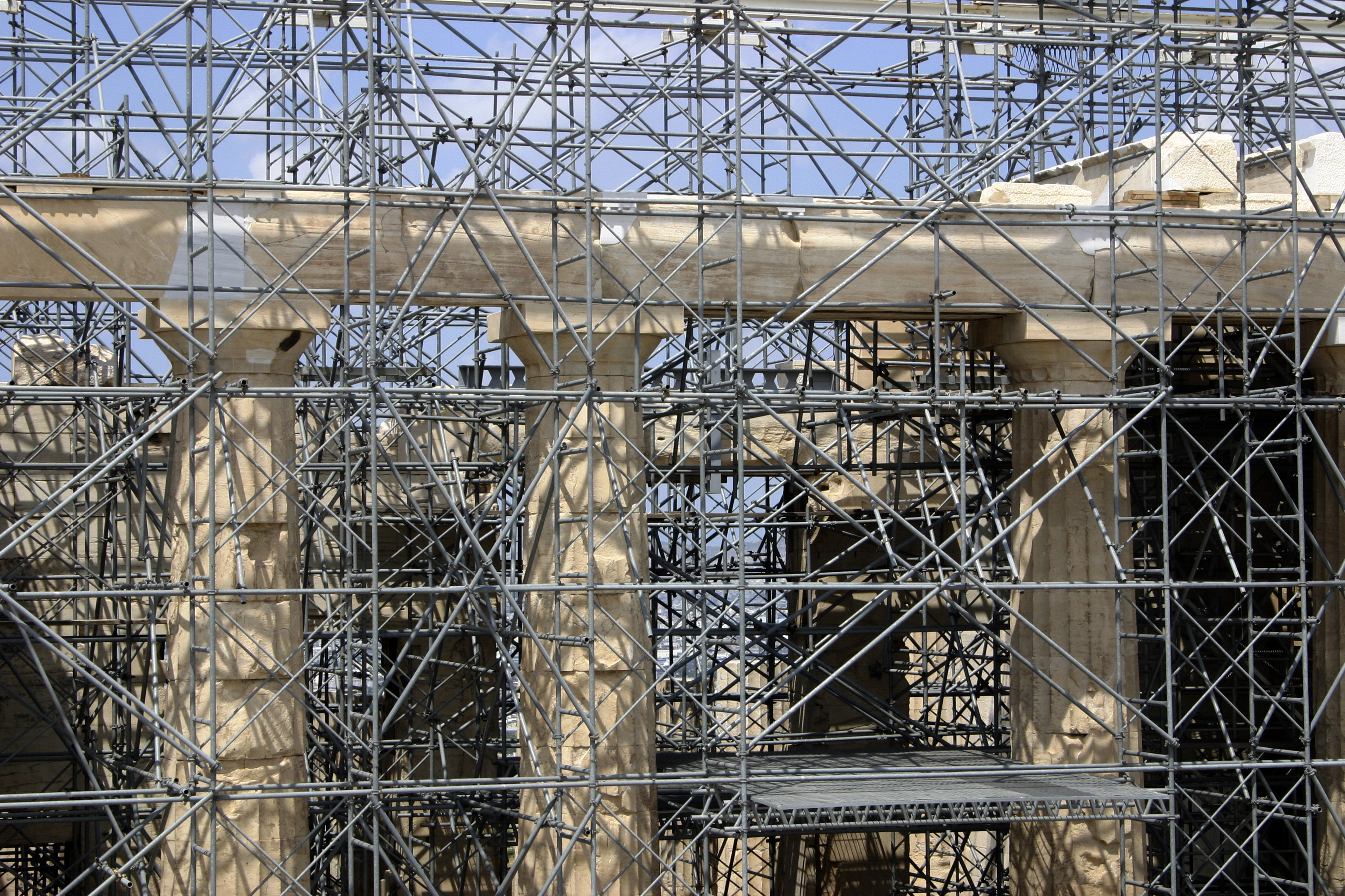 Parthenon scafold, Athens, Greece