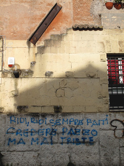 Laugh laugh, wall, Rome, Italy