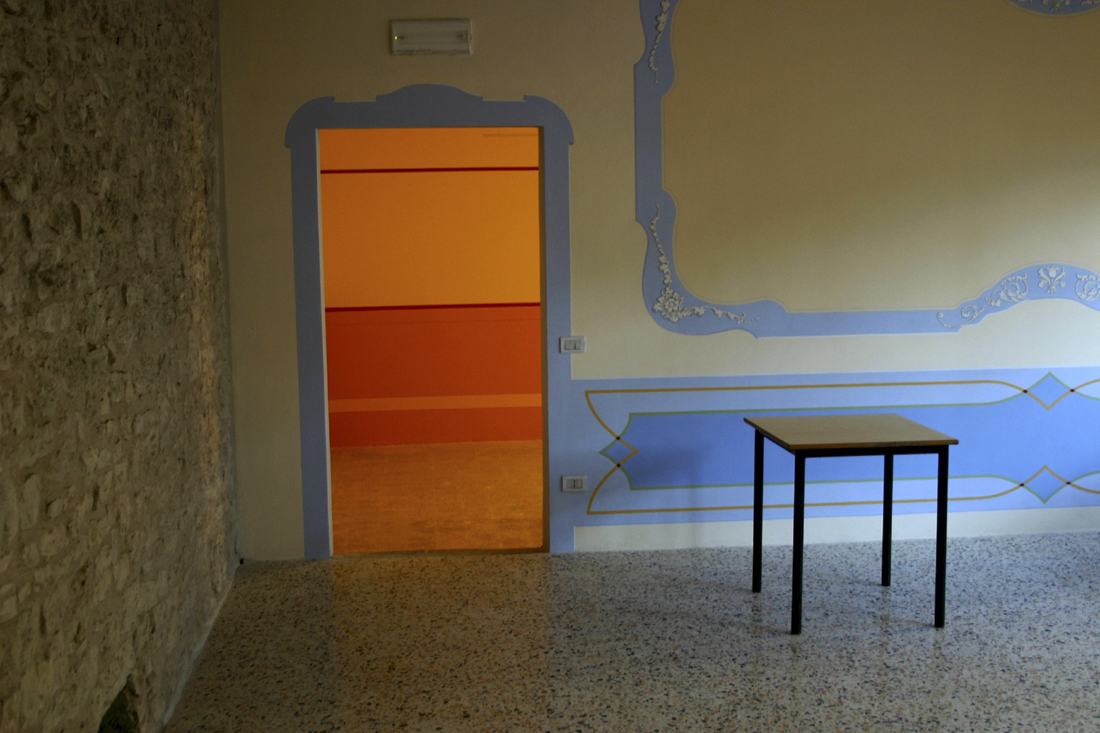Door and table, Corciano, Italy