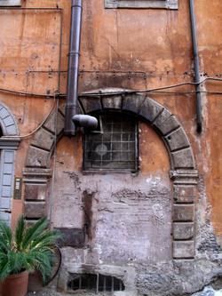Restaurant window, Rome, Italy