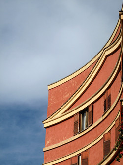 Curved Building, Rome, Italy