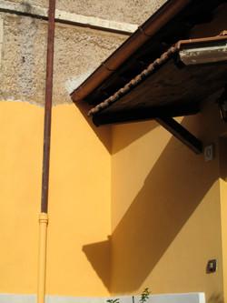 Yellow wall, Rome, Italy