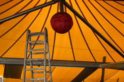 Tent and ladder, Catania, Sicily
