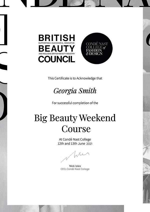 BigBeautyWeekend Certificate -Georgia Smith.jpg