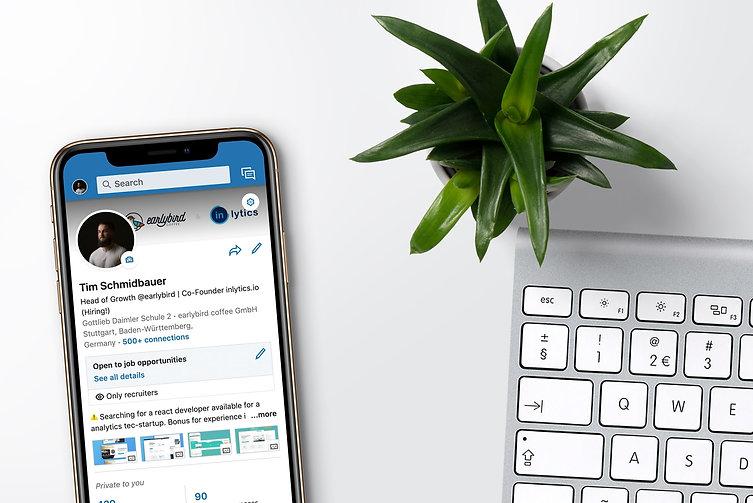 app mobile da rede social profissional