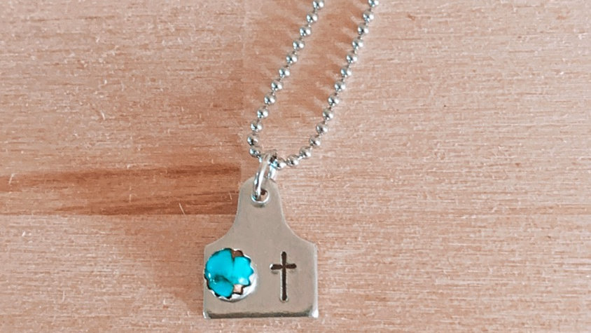Turquoise Custom Tag Necklace