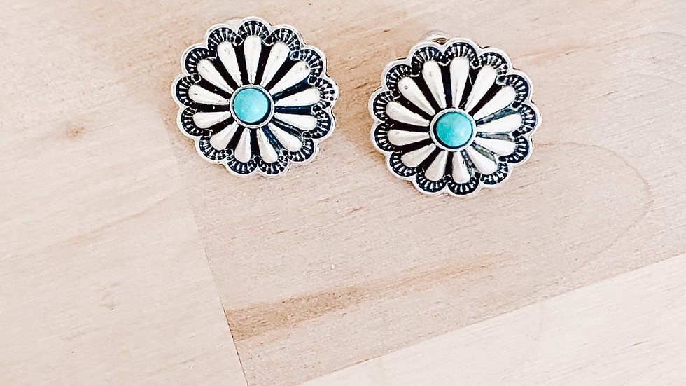 Turquoise Concho Studs