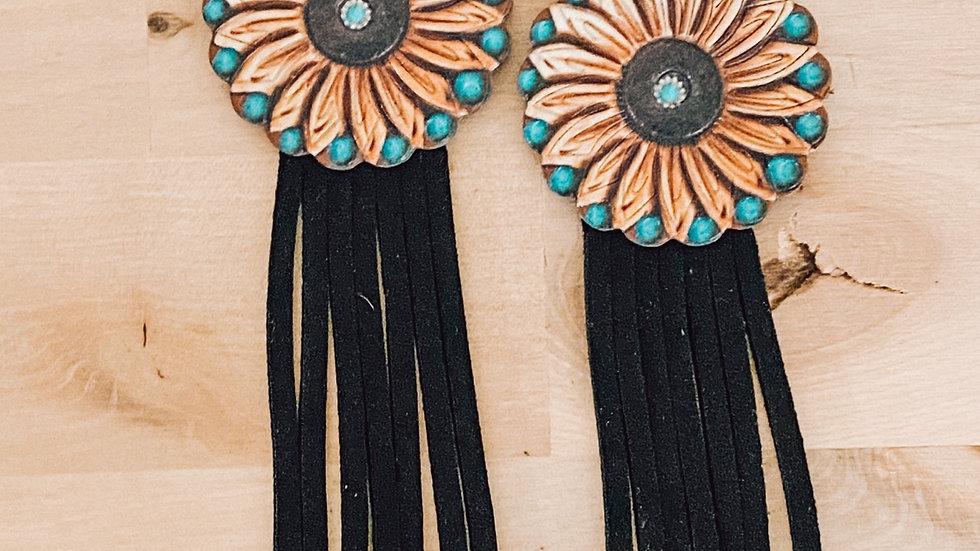 Leather Sunflower Fringies