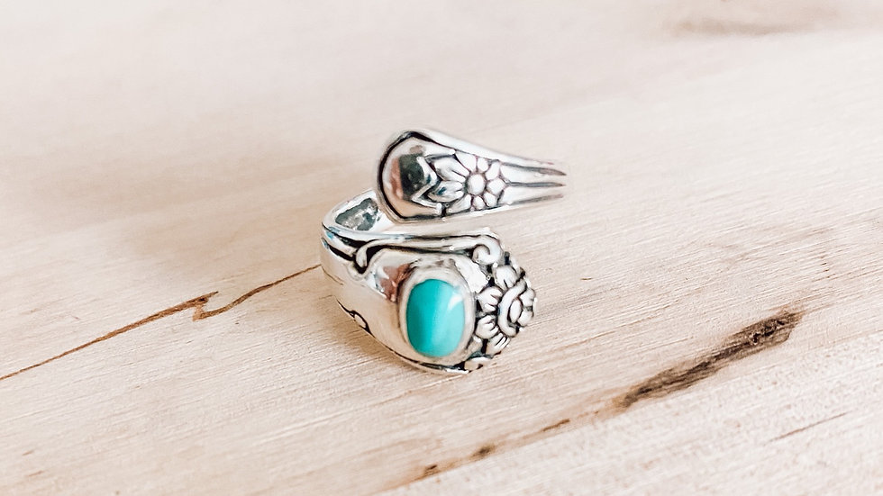 Turquoise Spoon Ring