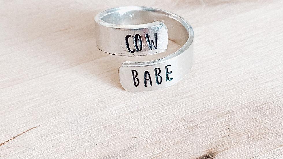 Cow Babe Wrap Around Band