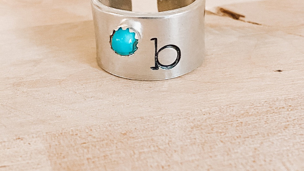 Turquoise Single Stamp Band