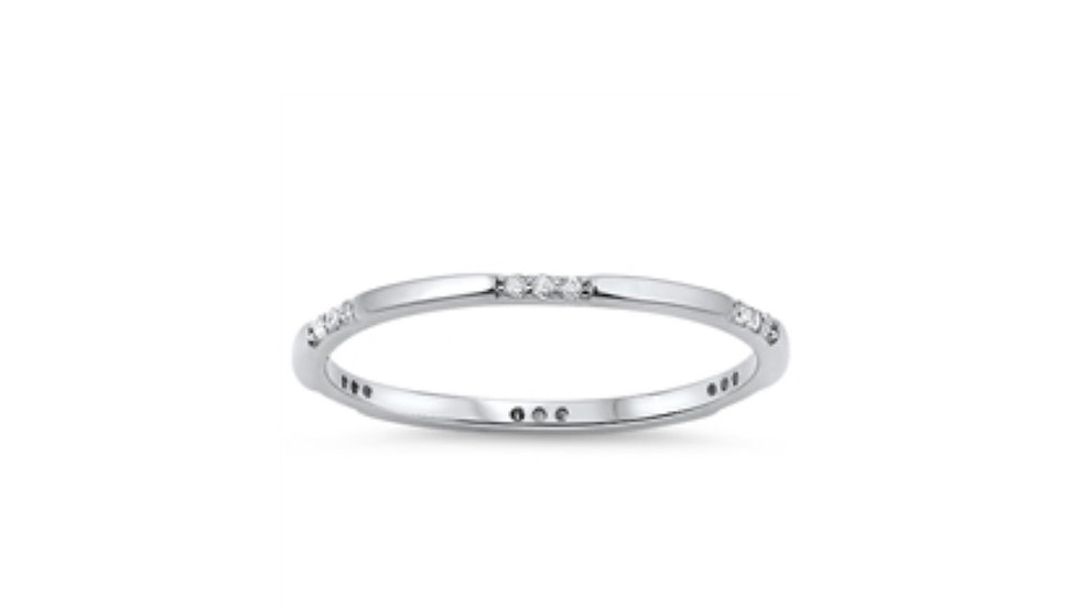 Sterling Petite Eternity Band