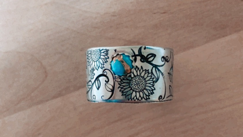 Turquoise Fine As Vines Band