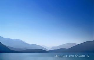 Montagnes du fond du lac d'Annecy