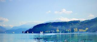 Voiliers du lac à l'automne