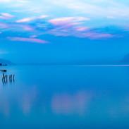 Lac au bleu du matin