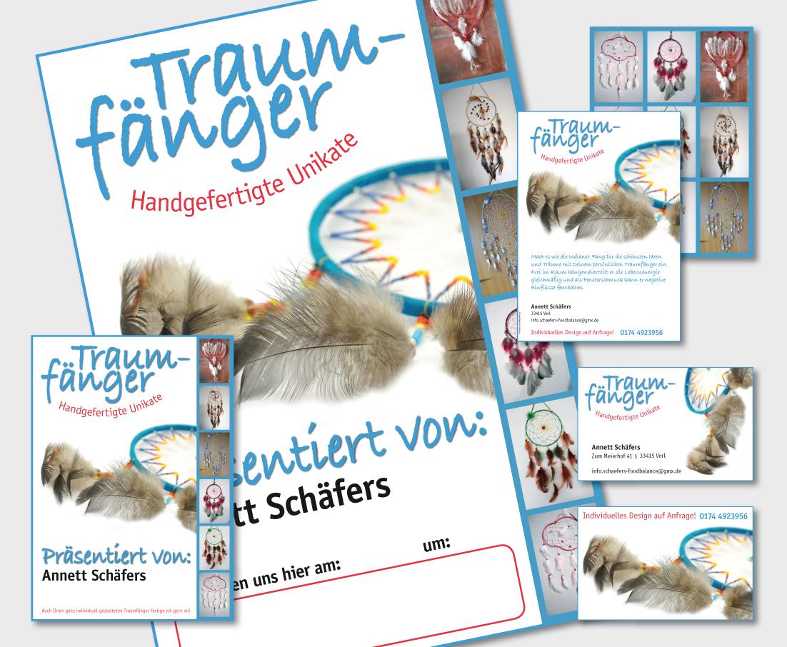 Plakat, Flyer und Visitenkarten