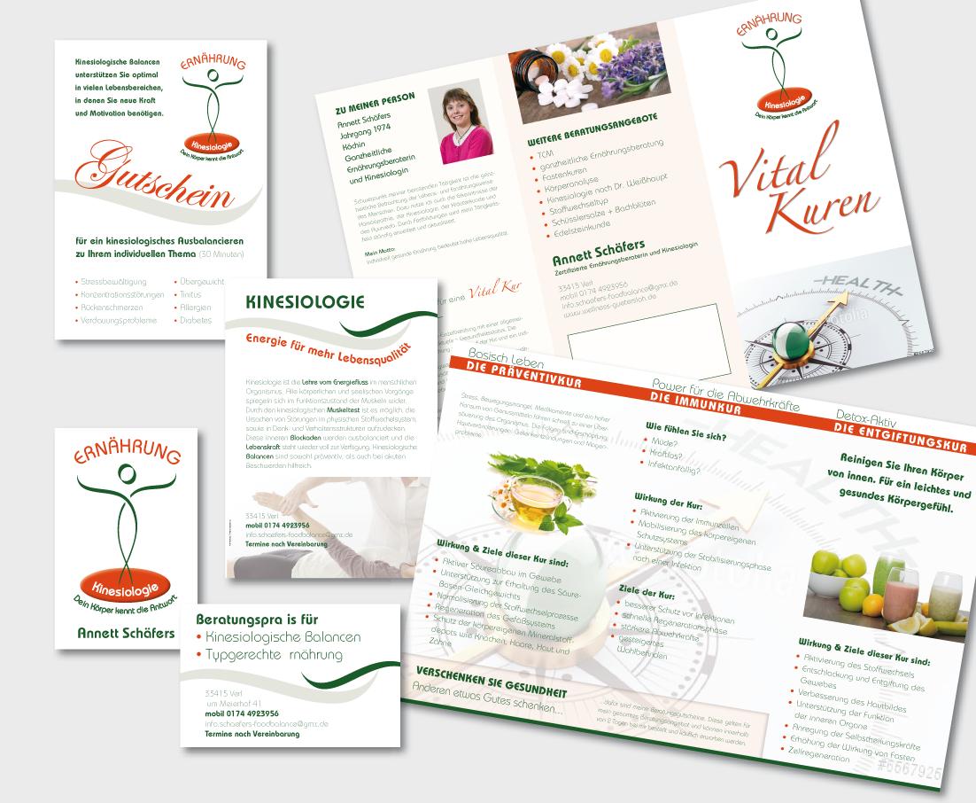 Broschüre, Visitenkarte & Gutschein