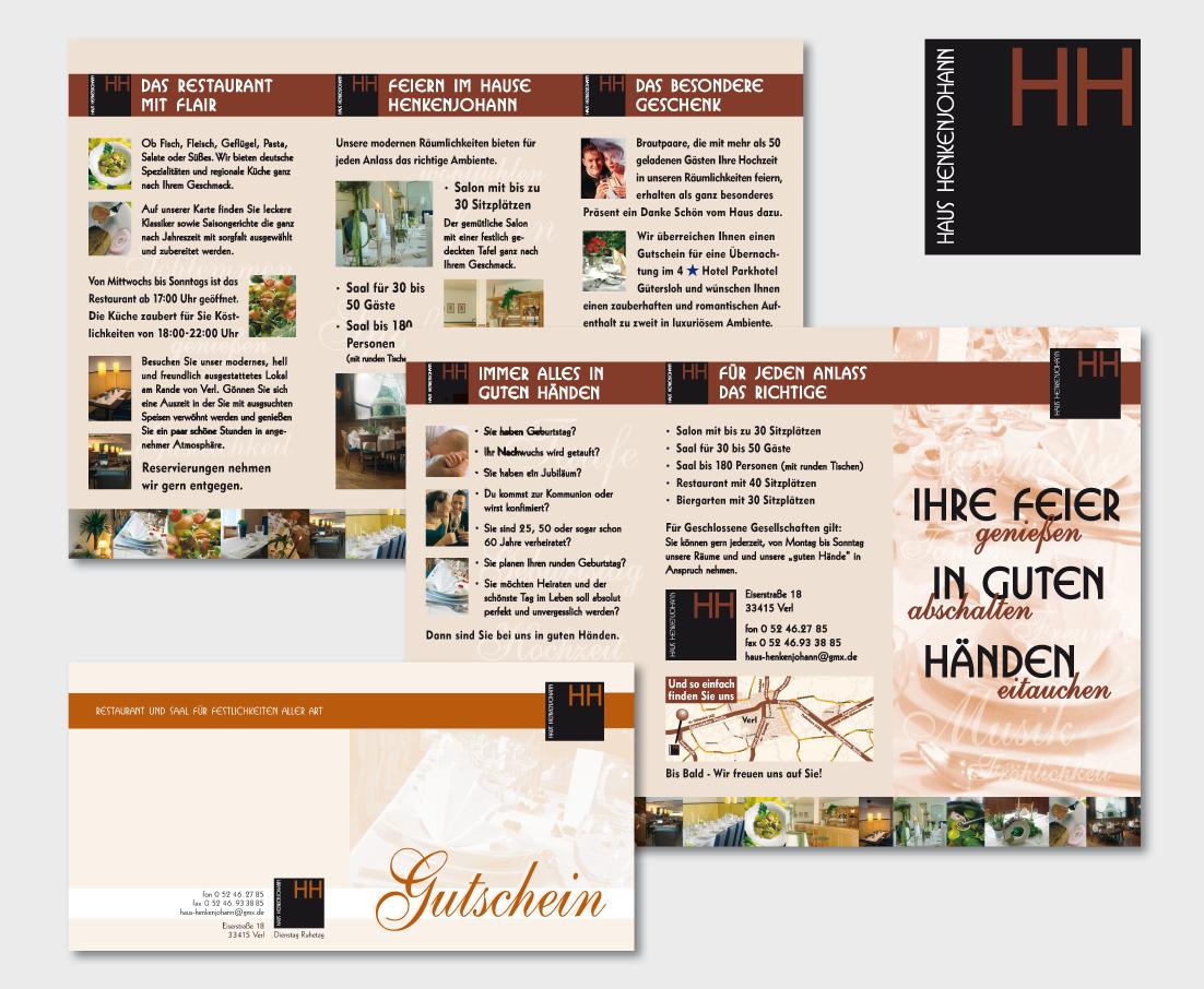 Info-Faltblatt, Gutschein