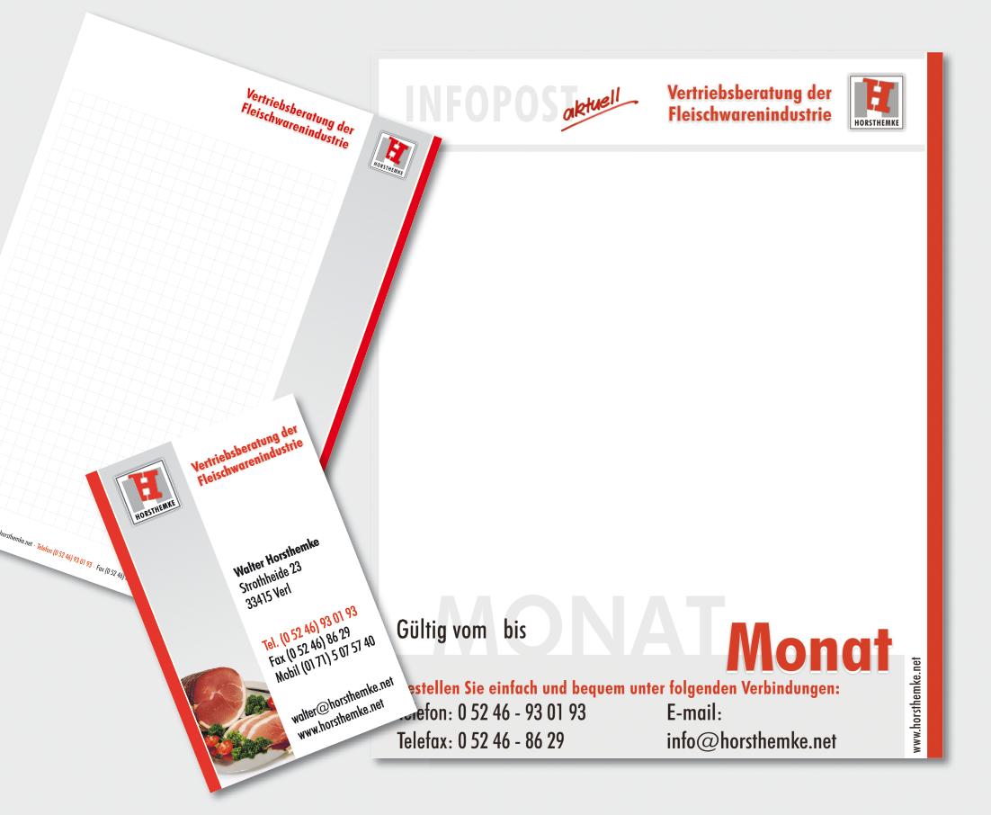 Drucksachenfamilie & Mailingvorlage