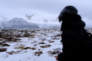 Drone Operating in Iceland