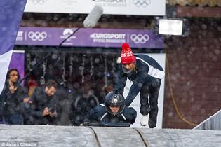 Eurosport bobsleighing shoot