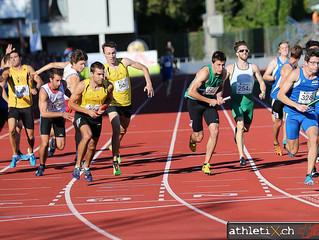 Schweizer Meister mit der 4x400m Staffel