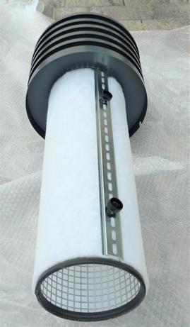 Filterkorb mit Filtermatte und Klemmschiene