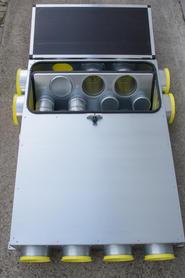 Combi-Box L mit Blechtüre, geöffnet