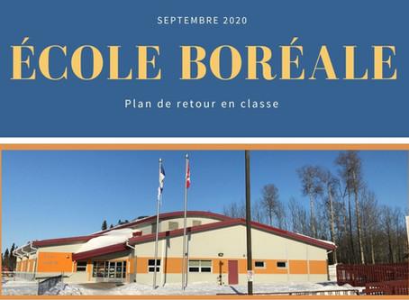 École Boréale - Plan de retour en classe