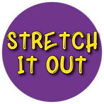 Purple Circle with Stretch it out logo