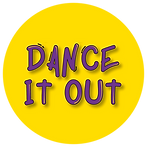 Yellow Circle with Dance It Out Logo