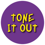 Purple Circle with Tone it Out logo