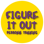 Yellow Circle with Figure it out - Personal Training logo