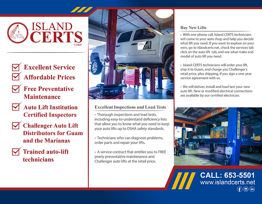 ISLAND CERTS BROCHURE FRONT SIDE WITH BL