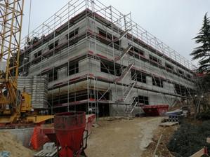 Site scolaire de la Combe, le chantier avance