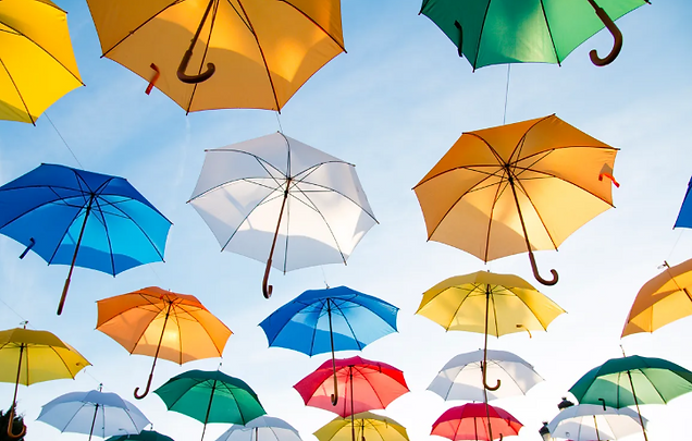 Umbrellas Representing the Coverage You Get from Disability Insurance