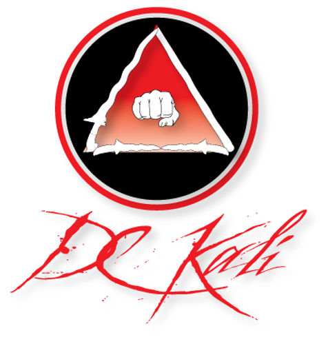 DC Kali logo representing various areas of training (i.e. empty hands, blade weapons, and blunt weapons)
