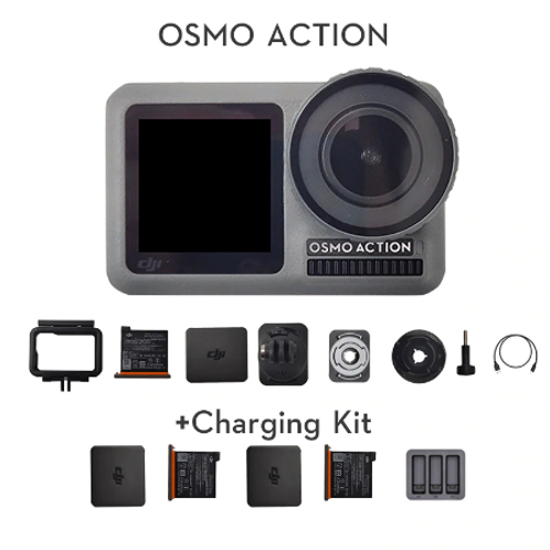 DJI Osmo Action Sports camera dual screens and RockSteady stabilization Waterpro
