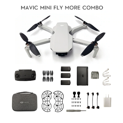In stock DJI Mavic Mini drone with 2.7k camera is MT1SS5 FCC version flight time