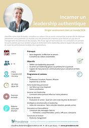 Formation Leadership auteniqu