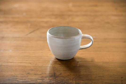粉引 コーヒーカップ 丸