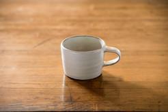 粉引 コーヒーカップ 角