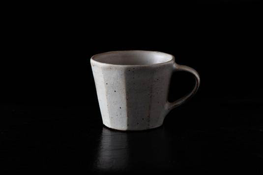 粉引 面取りコーヒーカップ