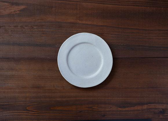 粉引 リム平皿
