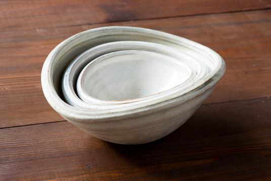 粉引 楕円鉢
